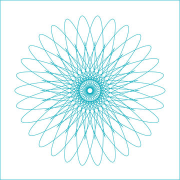 Spirograph geometric shape suitable for watermark