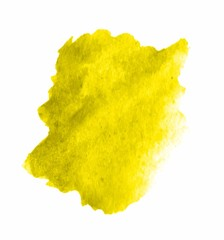 Yellow watercolor VECTOR stain