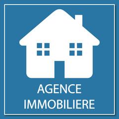 Logo agence immobilière.