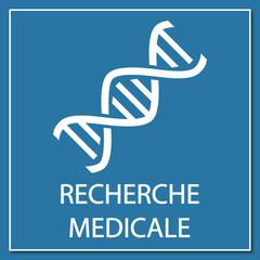 Logo recherche médicale.