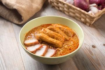 Curry Laksa Noodles Asian food