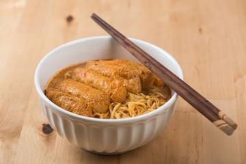 Asian food Hot Curry Laksa Noodles