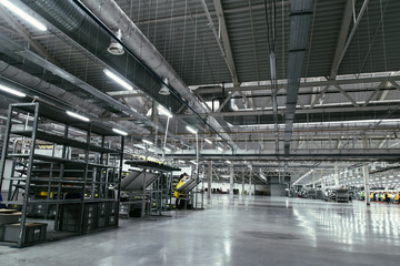 Interior of the new factory