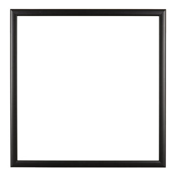 Empty picture frame, square, simple black moulding