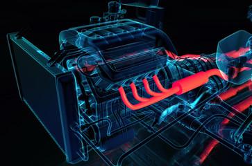 Fahrzeug Transparent 3D illustration