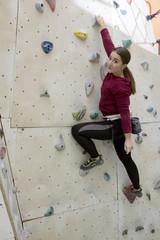 Rock climbing female
