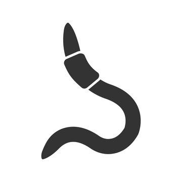 Worm glyph icon