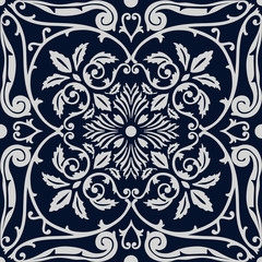 Vector seamless pattern tiling with arabesque