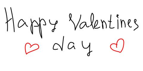 Поздравительная открытка ко дню Святого Валентина, написанная от руки прописью. Векторная Валентинка.