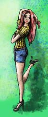 vrouw met hoge hakken