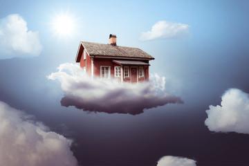 Haus auf einer Wolke