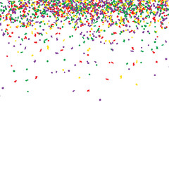 Confetti many colorful pieces, vector illustration isolated on white background