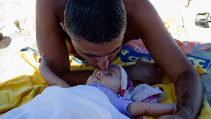 Baby with her Father, Italy