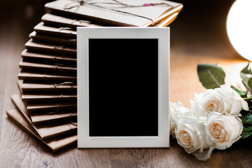 gift photo frame beautifully packaged in kraft paper