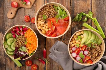 different sort of vegetarian salad