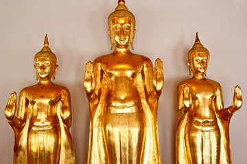 Tre Budda dorati
