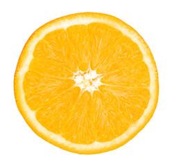 Orange fruit. Orange slice isolate on white. With clipping path