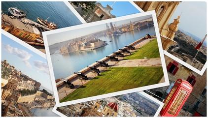 collage photos beautiful views of Malta