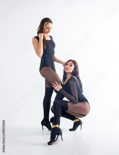 Women in stockings and heels
