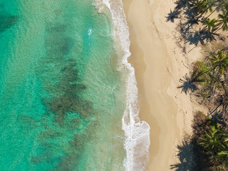 Tropical beach, view from above