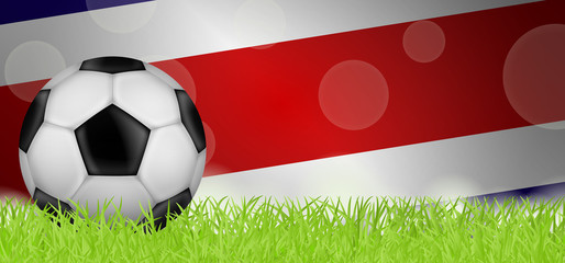 Fußballwiese - Flagge von Costa Rica