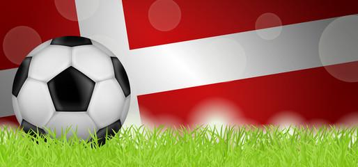 Fußballwiese - Flagge von Dänemark