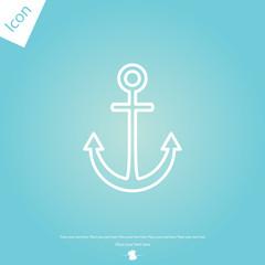 Anchor line icon