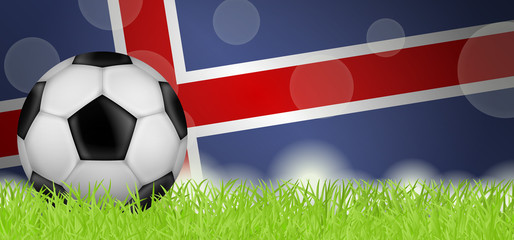 Fußballwiese - Flagge von Island