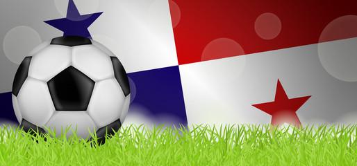 Fußballwiese - Flagge von Panama