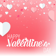 Happy Valentine's Day Romantic Greeting Card. Vector, illustration eps10