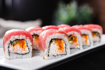 Tuna and soft crab rolls