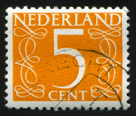 Netherlands retro stamp