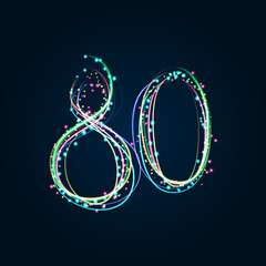 Neon Light Painting – Number 80
