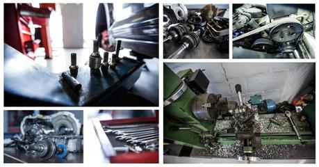 repair tools collage