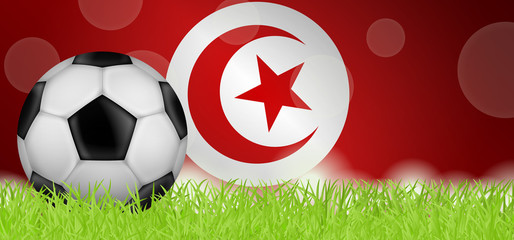 Fußballwiese - Flagge von Tunesien