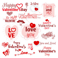 Happy Valentines day typography. Vector text design. Vector, illustration eps10