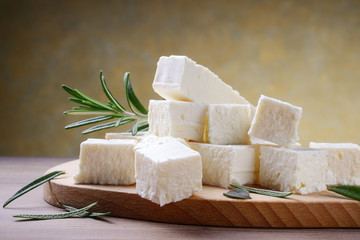 Feta cheese with rosemary