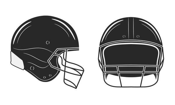 American football helmet isolated on white background