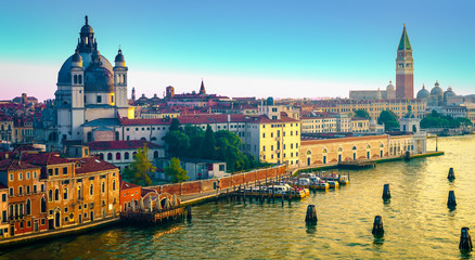 Panoramic view of Venice, Italy.