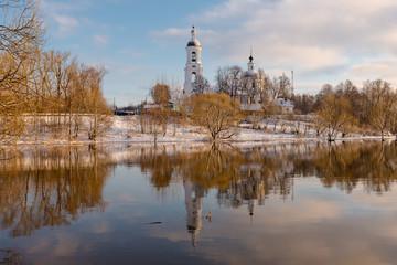The Church of St. Nicholas. River Cherna. Village Filippovskoe. The Kirzhach district. Vladimir oblast. Russia.