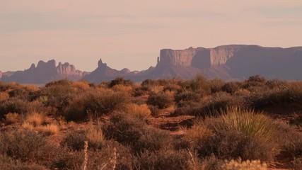 Wall Mural - Wild and Raw Arizona Desert Landscape During Sunset. Northern Arizona, United States of America