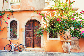Poster Mediterraans Europa Ancient building in Chania, Crete, Greece.