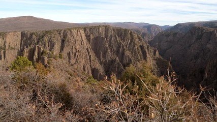 Wall Mural - Black Canyon of the Gunnison National Park is in Western Colorado, United States of America. Canyon Formation.