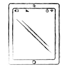 tablet device isolated icon vector illustration design