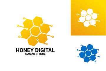 Honeycomb Digital Logo Template Design Vector, Emblem, Design Concept, Creative Symbol, Icon