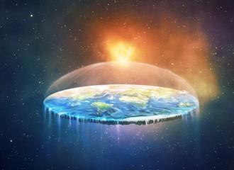 Flat earth in space Fototapete