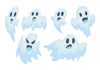 halloween ghost vector set