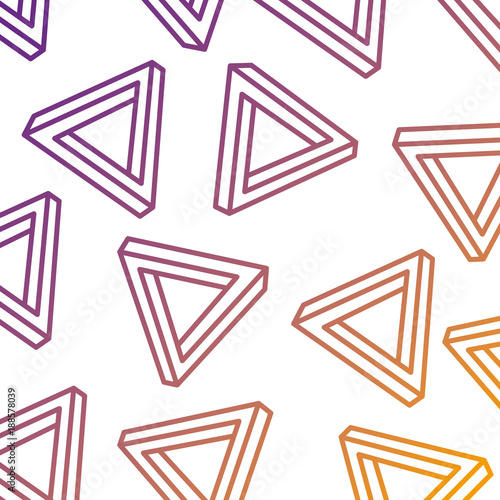 geometric seamless pattern with triangles memphis design