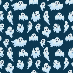 halloween ghost vector semless pattern
