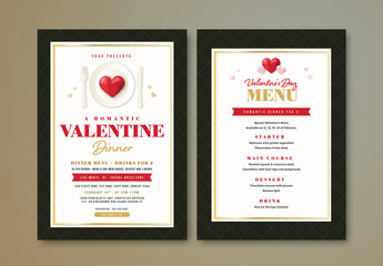Valentine's Day Dinner Flyer and Menu